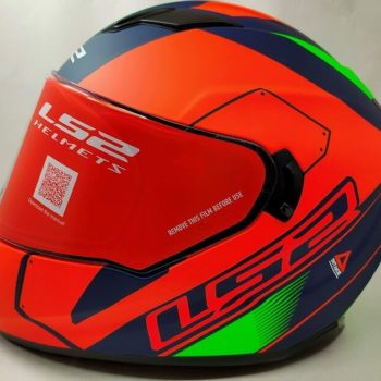 LS2 FF320 Stream Evo Stash Matt Navy Blue Orange Full Face Helmet