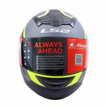 LS2 FF352 Mein Matt Black Fluorescent Yellow Full Face Helmet 1