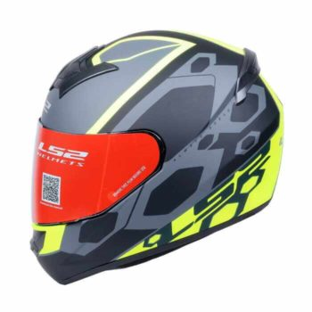 LS2 FF352 Mein Matt Black Fluorescent Yellow Full Face Helmet