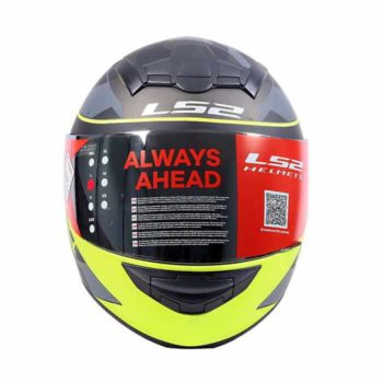 LS2 FF352 Recruit Matt Black Fluorescent Yellow Full Face Helmet 1