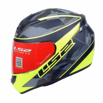 LS2 FF352 Recruit Matt Black Fluorescent Yellow Full Face Helmet
