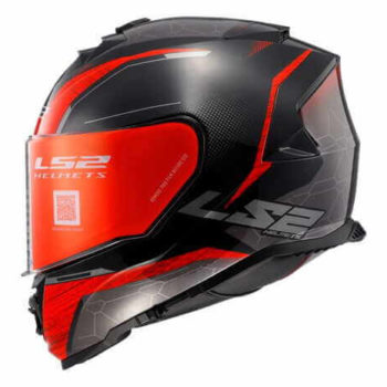LS2 FF800 Storm Classy Gloss Black Red Full Face Helmet 1