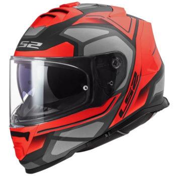 LS2 FF800 Storm Faster Gloss Red Titanium Full Face Helmet