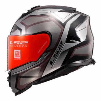 LS2 FF800 Storm Faster Gloss Titanium Full Face Helmet