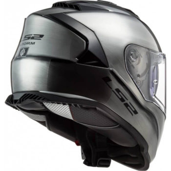 LS2 FF800 Storm Jeans Gloss Titanium Full Face Helmet 1 4