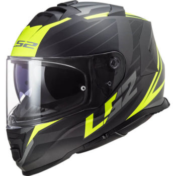 LS2 FF800 Storm Nerve Matt Black Fluorescent Yellow Full Face Helmet