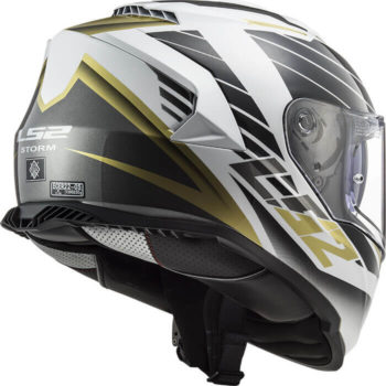 LS2 FF800 Storm Nerve White Antique Gold Full Face Helmet 1
