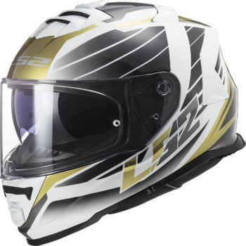 LS2 FF800 Storm Nerve White Antique Gold Full Face Helmet
