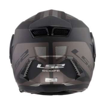 LS2 FF902 Scope Axis Matt Black Titanium Flip Up Helmet 1