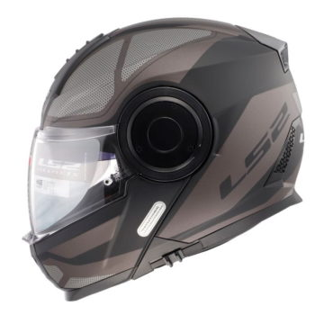 LS2 FF902 Scope Axis Matt Black Titanium Flip Up Helmet
