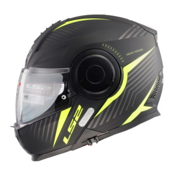 LS2 FF902 Scope Skid Matt Black Fluorescent Yellow Flip Up Helmet