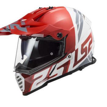 LS2 MX436 Pioneer Evo Evolve Matt Red White Dual Sport Helmet