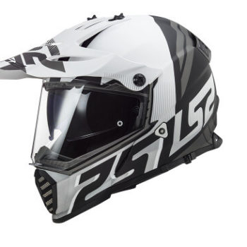 LS2 MX436 Pioneer Evo Evolve Matt White Black Dual Sport Helmet