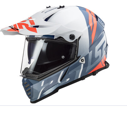 LS2 MX436 Pioneer Evo Evolve Matt White Cobalt Dual Sport Helmet