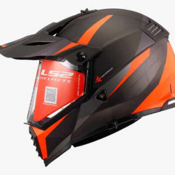 LS2 MX436 Pioneer Evo Router Matt Black Orange Dual Sport Helmet