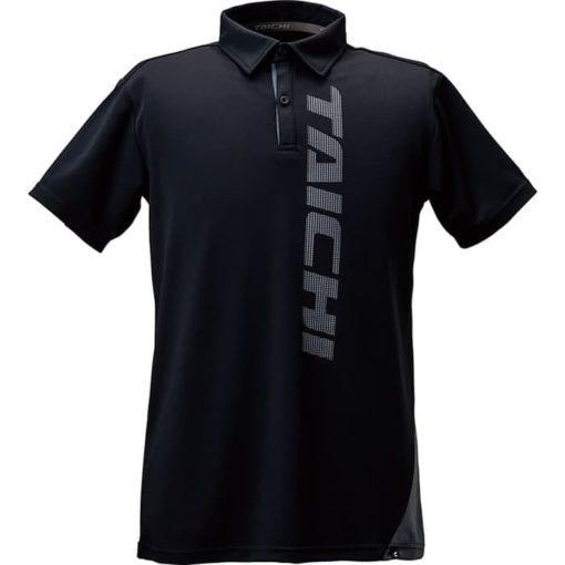 RS TAICHI C R Polo Tshirt Slant Black Inner wear