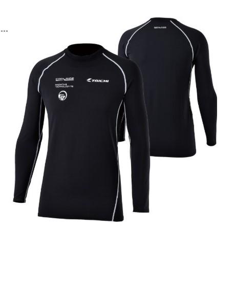 RS TAICHI CR Black White Riding Innerwear Shirt