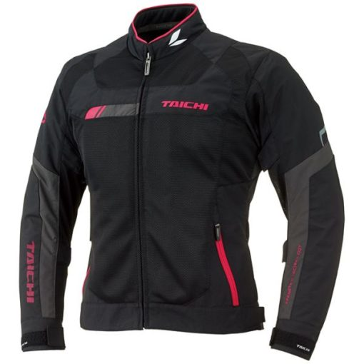 RS Taichi Cross Over Mesh Women Black Pink Riding Jacket