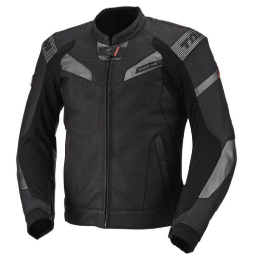 Rs Taichi GPX Raptor Perforated Leather Black Riding Jacket