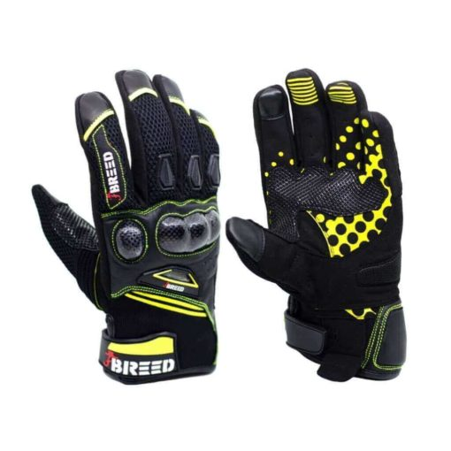 TBG Flair Black Fluorescent Yellow Riding Gloves 1 1 1