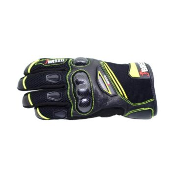 TBG Flair Black Fluorescent Yellow Riding Gloves 2