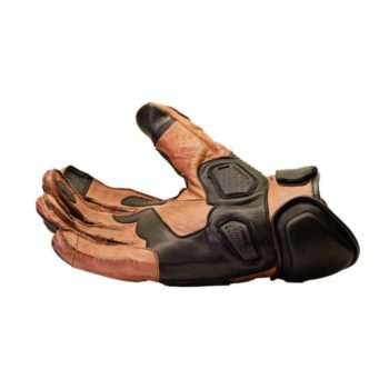 TBG Rider Black Brown Riding Gloves 2