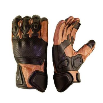 TBG Rider Black Brown Riding Gloves