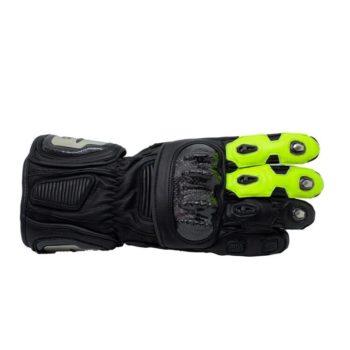 TBG Sport v2 Black Fluorescent Green Riding Gloves 2