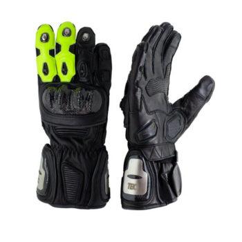 TBG Sport v2 Black Fluorescent Green Riding Gloves