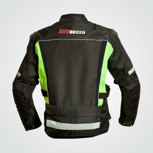 TBG Wanderer Black Fluorescent Green Riding Jacket 2