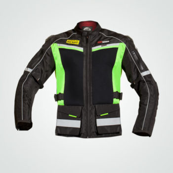 TBG Wanderer Black Fluorescent Green Riding Jacket
