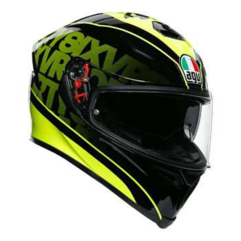 AGV K5 S Fast 46 Gloss Black Fluorescent Yellow Full Face Helmet
