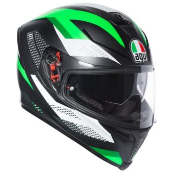 AGV K5 S Multi Plk Marble Matt Black White Green Full Face Helmet new