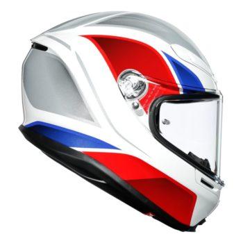 AGV K6 Hyphen Gloss White Red Blue Multi Full Face Helmet 2