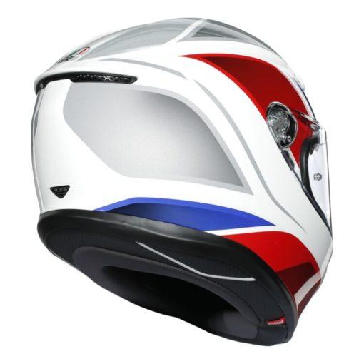 AGV K6 Hyphen Gloss White Red Blue Multi Full Face Helmet 3