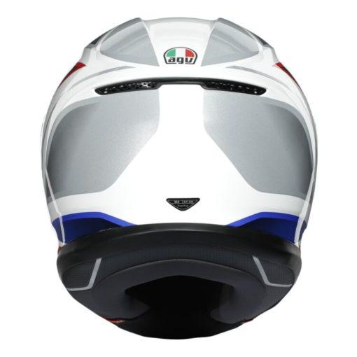 AGV K6 Hyphen Gloss White Red Blue Multi Full Face Helmet 4