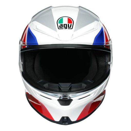AGV K6 Hyphen Gloss White Red Blue Multi Full Face Helmet 5