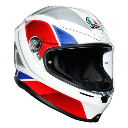 AGV K6 Hyphen Gloss White Red Blue Multi Full Face Helmet