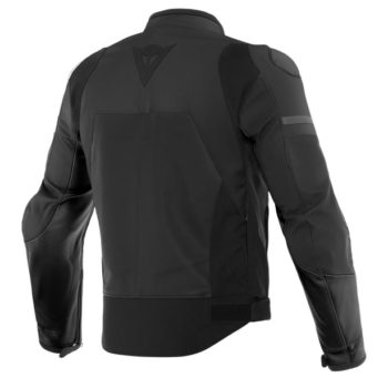 Daines Agile Perforated Leather Matte Black Riding Jacket 2
