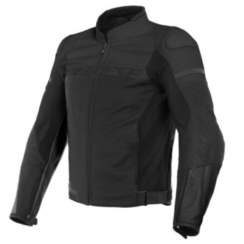 Daines Agile Perforated Leather Matte Black Riding Jacket
