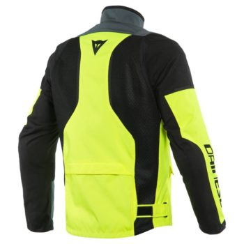 Dainese Air Tourer Tex Fluorescent Yellow Ebony Black Riding Jacket 2