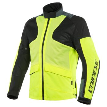 Dainese Air Tourer Tex Fluorescent Yellow Ebony Black Riding Jacket