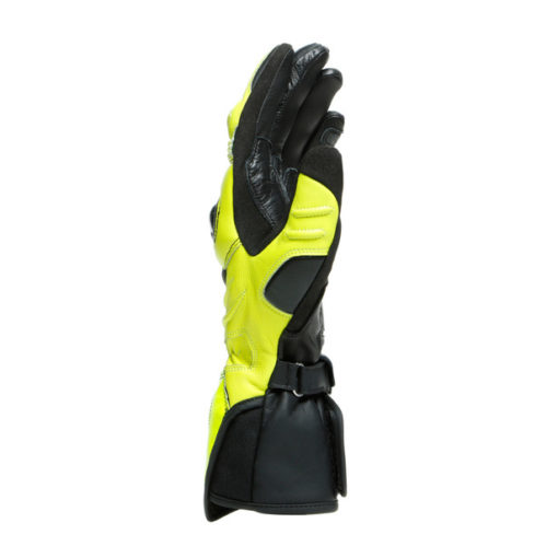Dainese Carbon 3 Long Black Fluorescent Yellow White Riding Gloves 2