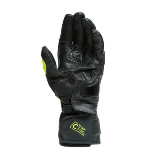 Dainese Carbon 3 Long Black Fluorescent Yellow White Riding Gloves 3