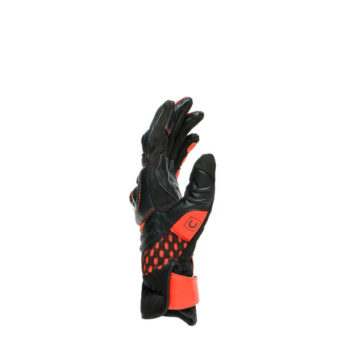 Dainese Carbon 3 Short Black Fluorescent Red Riding Gloves 2