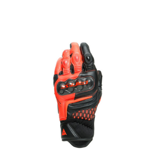 Dainese Carbon 3 Short Black Fluorescent Red Riding Gloves