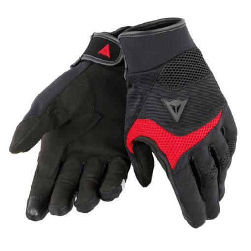 Dainese Desert Poon D1 Unisex Black Red Riding Gloves