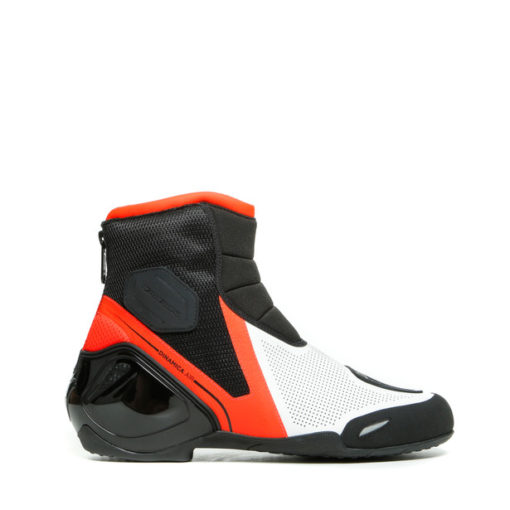 Dainese Dinamica Air Black Fluorescent Red White Riding Boots 2