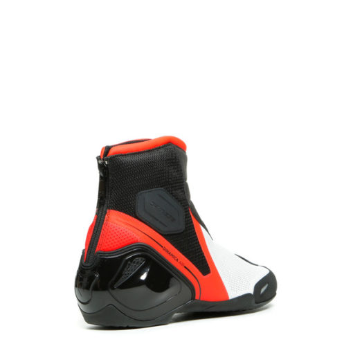 Dainese Dinamica Air Black Fluorescent Red White Riding Boots 4