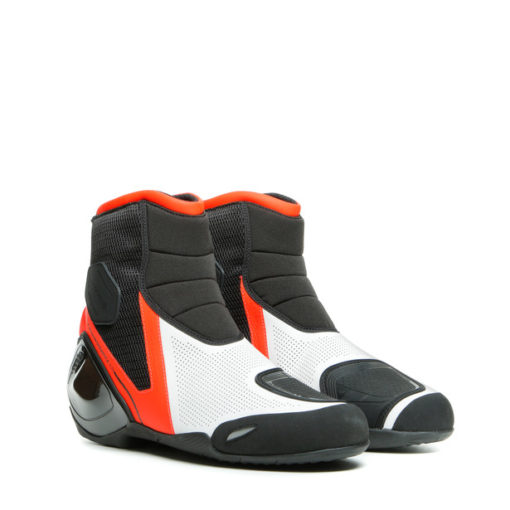 Dainese Dinamica Air Black Fluorescent Red White Riding Boots